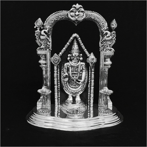 Tirupati Balaji Silver Statue