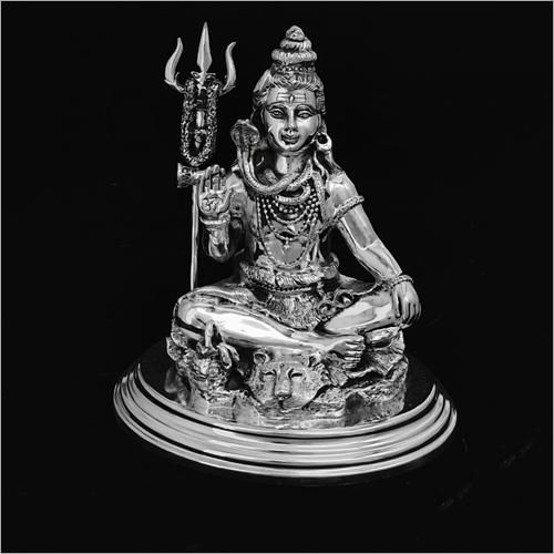 Lord Shankar Silver Statue