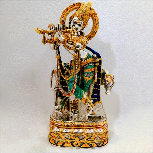 Silver Krishan Ji Statue