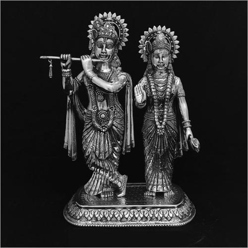 Shree Krishan And Radha Silver Statue