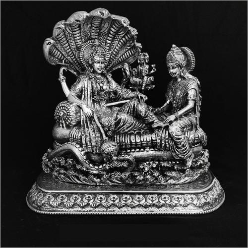 Vishnu Laxmi Silver Statue