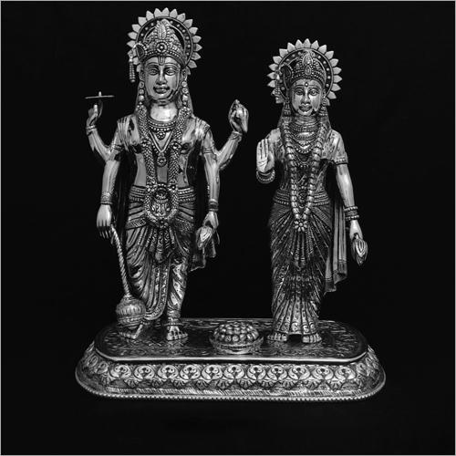 Laxmi Narayan Silver Statue
