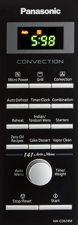 Panasonic 27 L Convection Microwave Oven (NN-CD674MFDG, Sliver) (Silver)