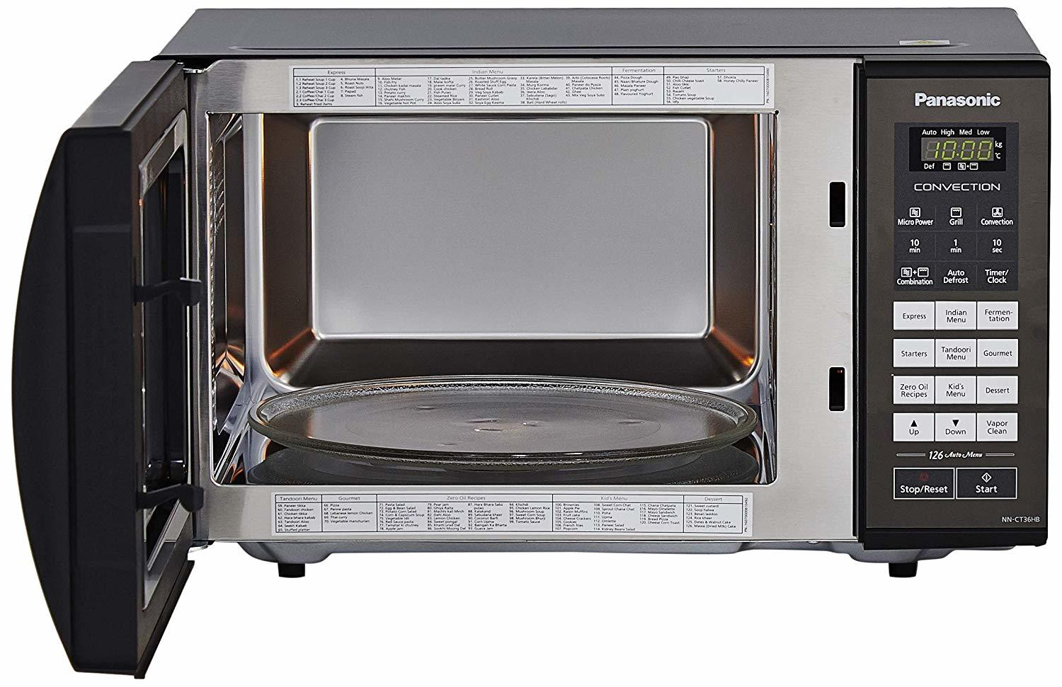Panasonic 23 L Convection Microwave Oven (NN-CT36HBFDG, Black)