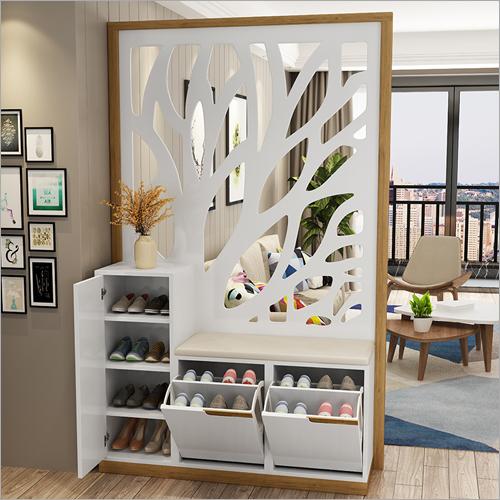 Modular Wooden Shoe Cabinet