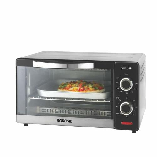 Borosil Prima 10 L OTG, with 3 Cooking Modes, 1000 W, Silver