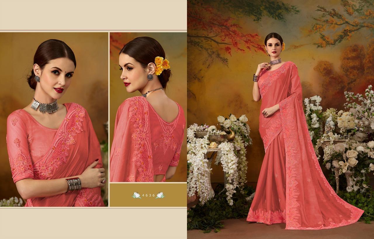 Silk Embroidered Designer Saree