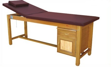 IMI-3111 Examination Cum Treatment Couch, Wooden With Storage Facility
