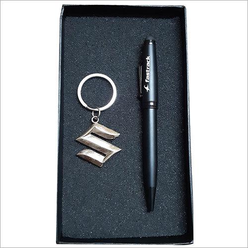 Designer Key Ring With Pen Gift Set