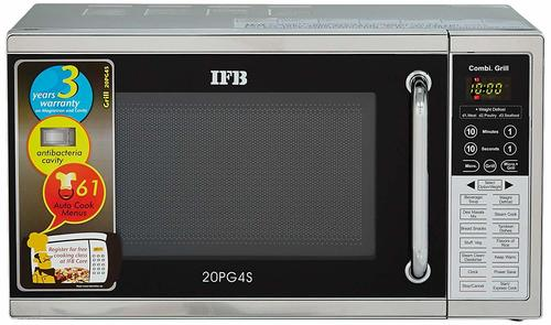 IFB 20 L Grill Microwave Oven (20PG4S, Black/ Silver)
