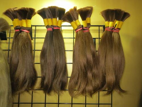 100% VIRGIN INDIAN HUMAN GOLDEN COLOUR HAIR