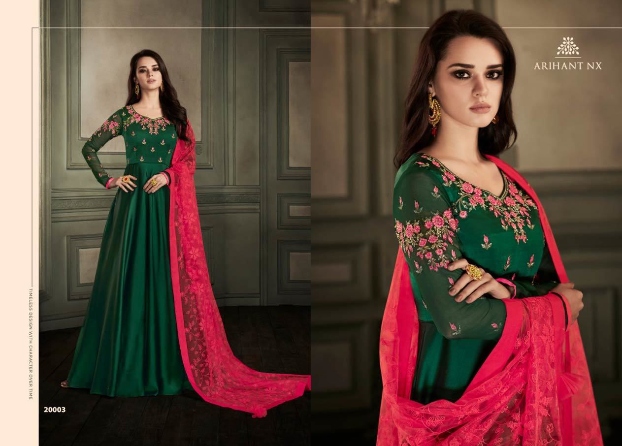 Real Georgette Satin Gown