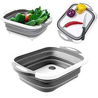 Cutting Chopping Board/Washing Bowl,Fruit Vegetable Basket (Multipurpose) (3 in 1 Chopping Board)