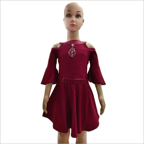 Girls Knee Length Frock