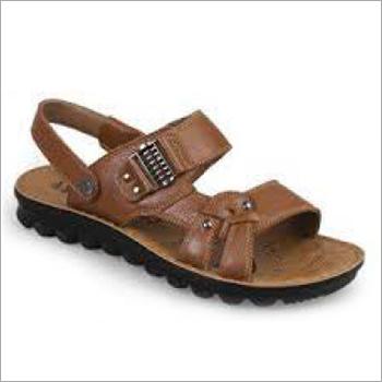Mens Brown PU Sandals