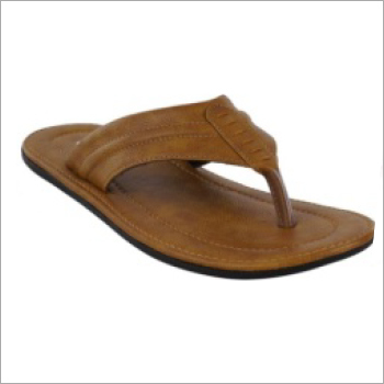 Mens Comfortable PU Slippers