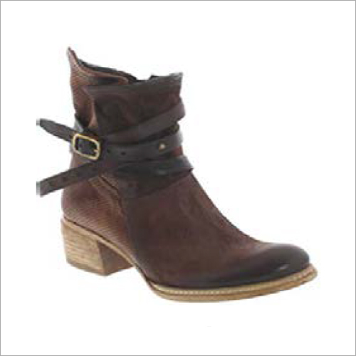 Ladies Buckle Strap Boots