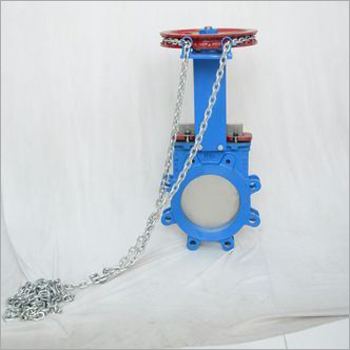 Knife Edge Gate Valve With Chain Operated