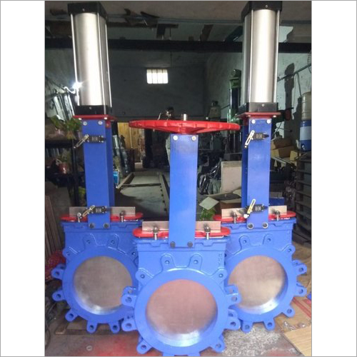 Pneumatic Cylinders Operated Knife Gate Valve
