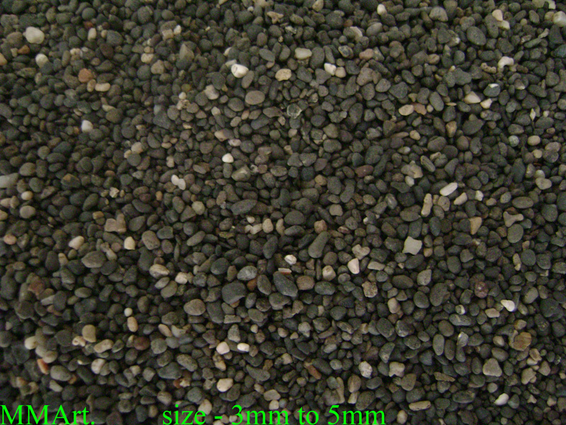 River black round smooth pebbles wash and small gravel