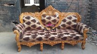 handcrafted teak wood sofa set