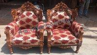 handcrafted teak wood sofa set