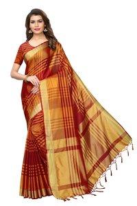 Designer art silk with blouse peace saree