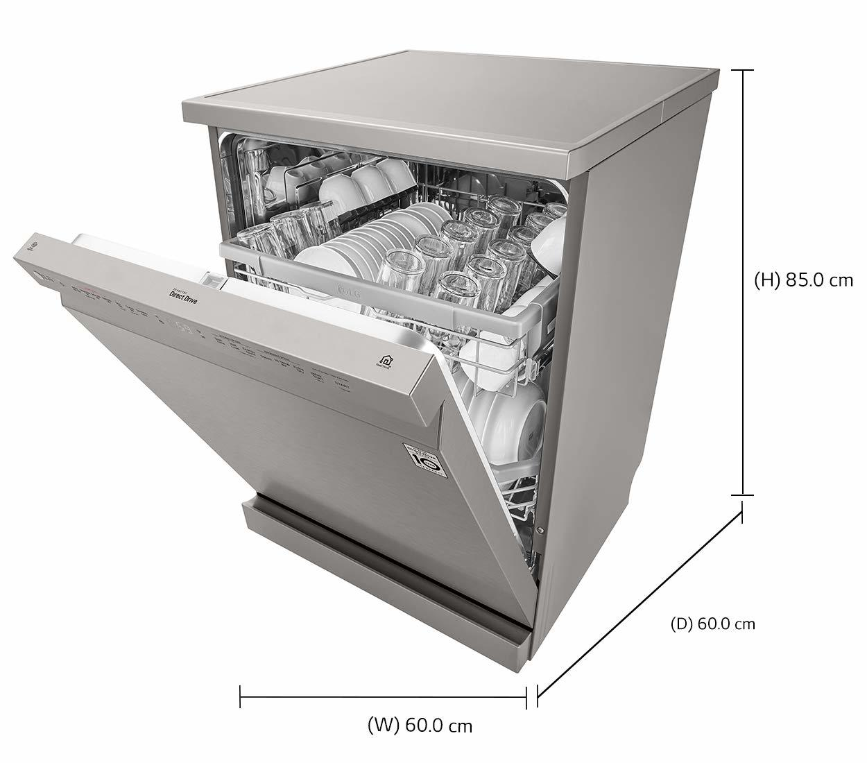 LG 14 Place Settings Dishwasher (DFB424FP, Platinum Silver)