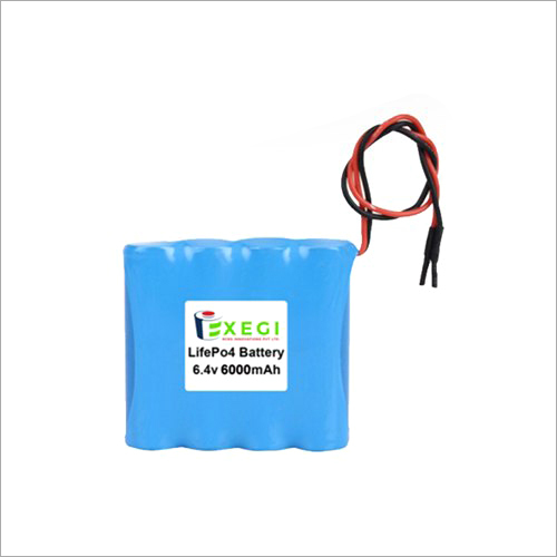 6.4v 6000mAh LiFePO4 Battery Pack