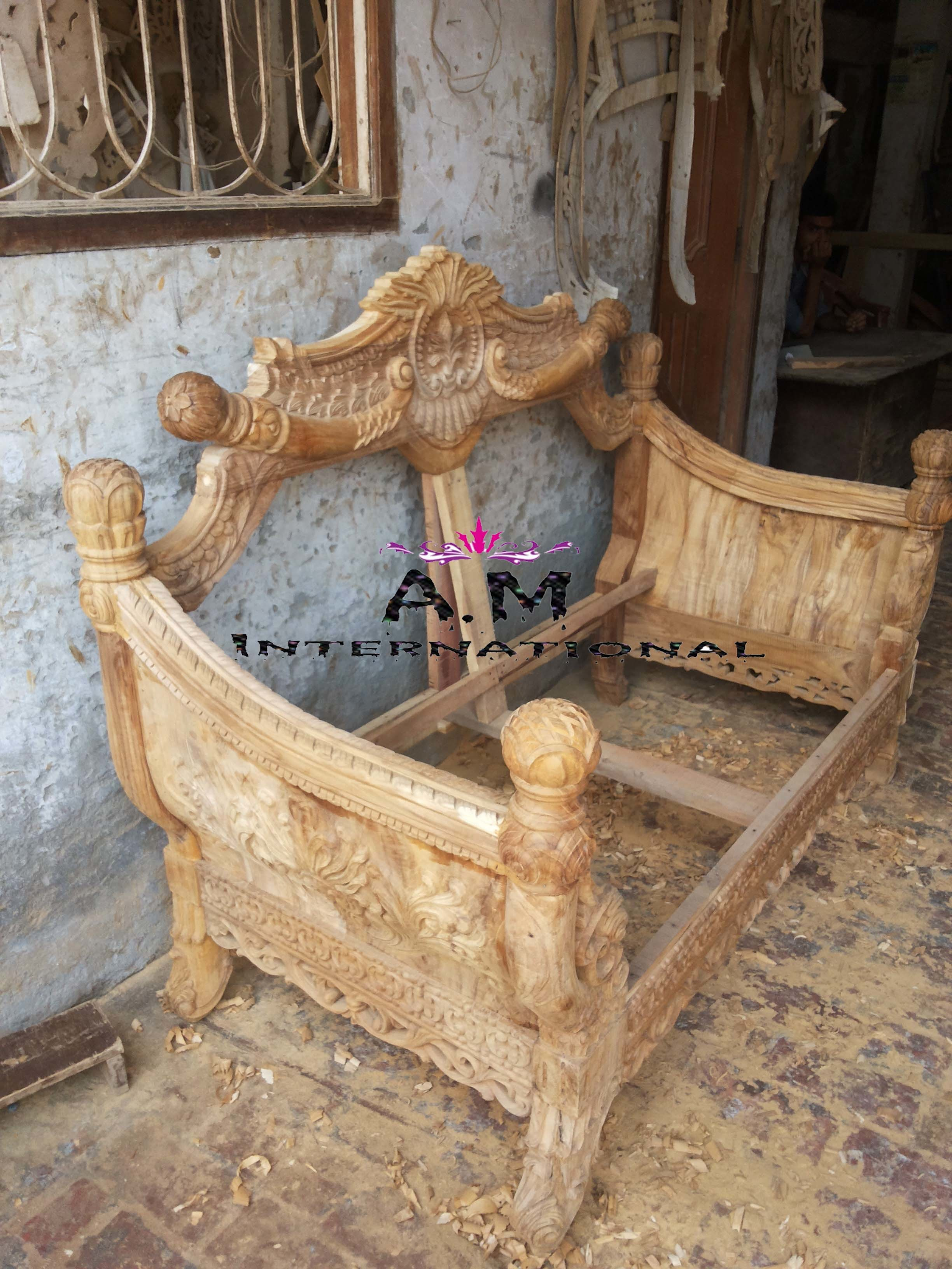 teak wood heavy carving sofa set