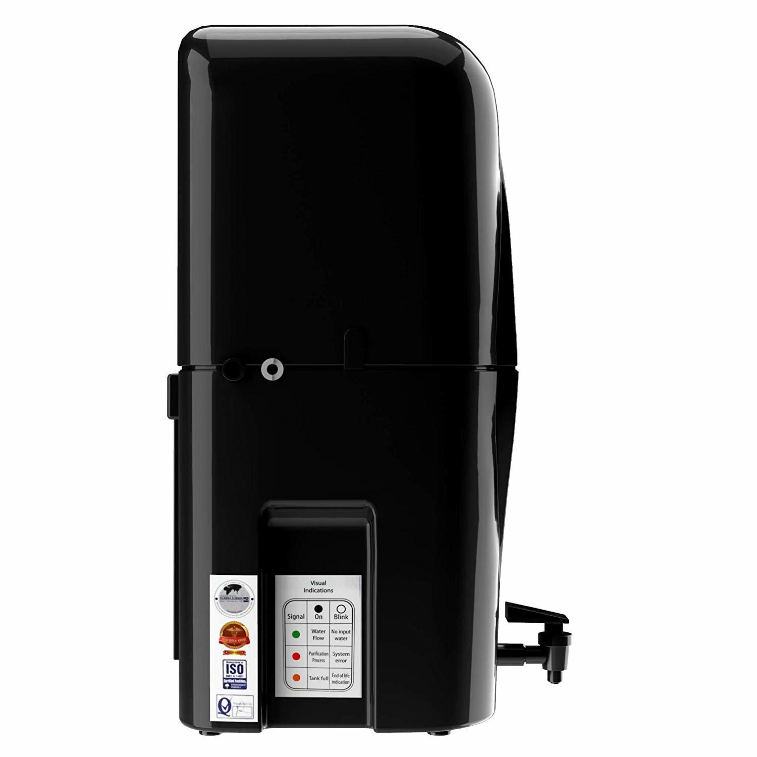 Eureka Forbes Aquasure from Aquaguard Smart Plus RO+UV+MTDS Water Purifier,Black
