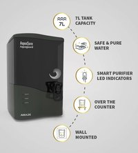 Eureka Forbes Aquasure from Aquaguard Amaze 7-Litres Table Top/Wall Mountable RO+UV+MTDS Grey Water Purifier
