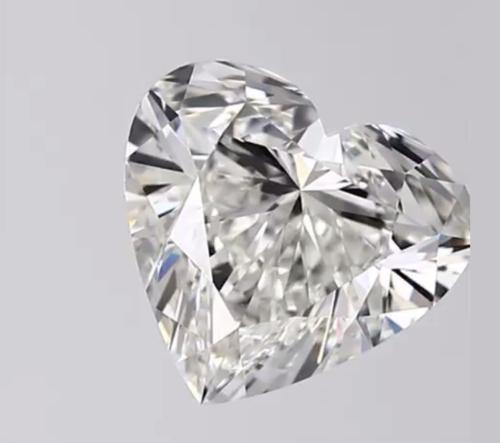 CVD Diamond 2ct G VVS2 Heart Shape IGI Certified Stone