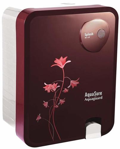 Eureka Forbes Aquasure from Aquaguard Splash RO+UV+MTDS 6 litres Burgundy Water Purifier