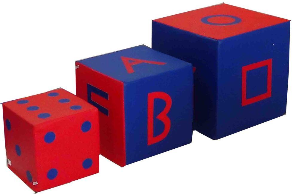 IMI-1375  Foam Blocks / Cubes Set, For Sensory Room (Set Of 4 Cubes)