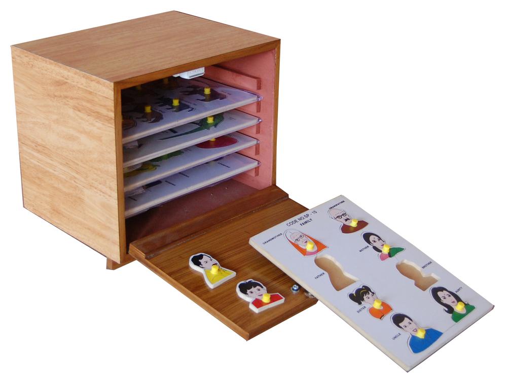 IMI-1448 Puzzles Program Set With Storage Case Assorted