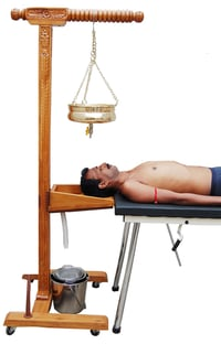 IMI 2295, SHIRODHARA STAND WOODEN with HEAD SUPPORT