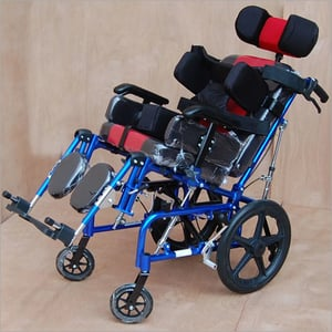 IMI-958 C.P WHEELCHAIR, Folding with Head & Side Supports (Child)
