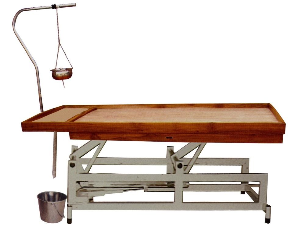 High-low Massage Table (Electrical) With Manual Shirodhara Stand