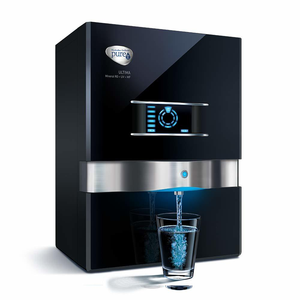 HUL Pureit Ultima Mineral RO + UV + MF 7 Stage Table top/Wall mountable Black 10 litres Water Purifier
