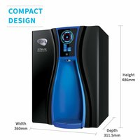 HUL Pureit Ultima Nxt Mineral RO + UV + MF 7 Stage Table top/Wall mountable Black 10 litres Water Purifier