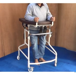 Gait-Training Support Walker with Seat.