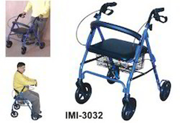 Imi-3032 Rollator With Seat, Backrest & Brakes