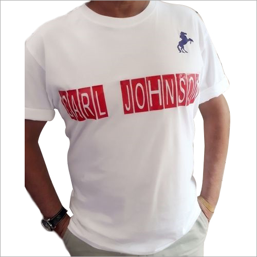 Mens White Cotton T-Shirt