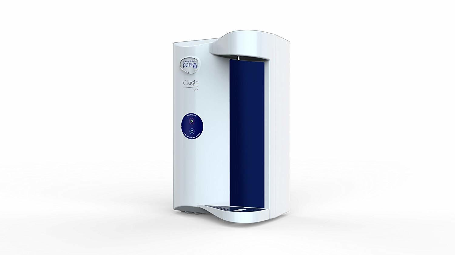 HUL Pureit Classic G2 UV+ 4 Stage Table Top/Wall Mountable White & Blue Tankless Water Purifier