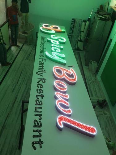 LED Acrylic Signage Board