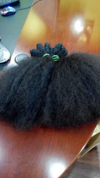 UNPROCESSED INDIAN HUMAN AFRO CURLY HAIR