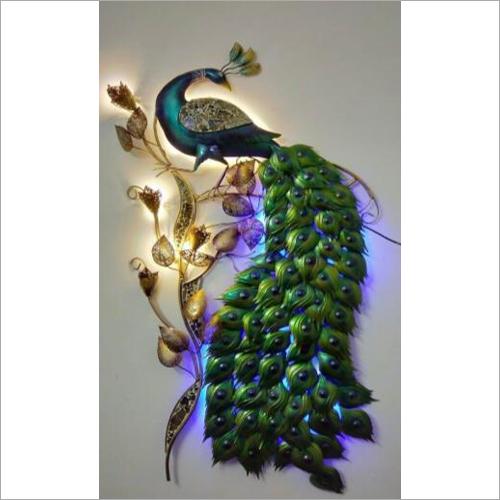 3D Peacock Wall Mural