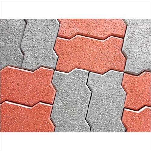Grey Zigzag Paver Floor Block