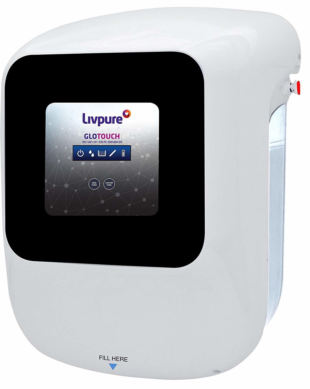 Livpure Glo Touch RO+UV+UF+Taste Enhancer Water Purifier
